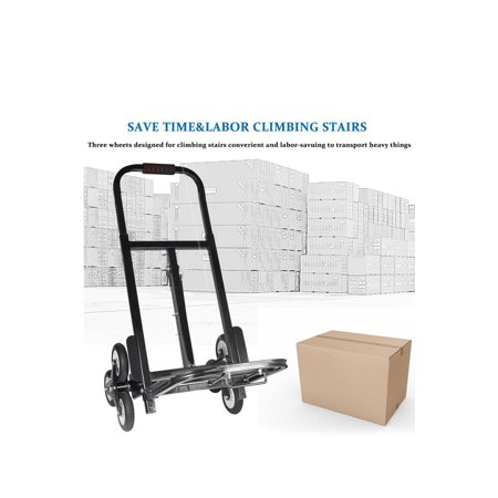 Olive Trolley - Stair Climber Hand Truck, SOLID RUBBER TIRES-440LBS Barrow Hand Truck Bracket Roll Cart Trolley
