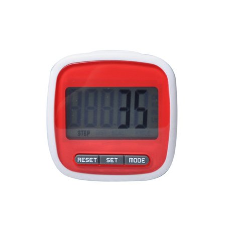 Sawpy Waterproof Digital Pedometer Step Movement Calorie Counter Simple Step Counter with Clip Fitness (Digital Step Counter)