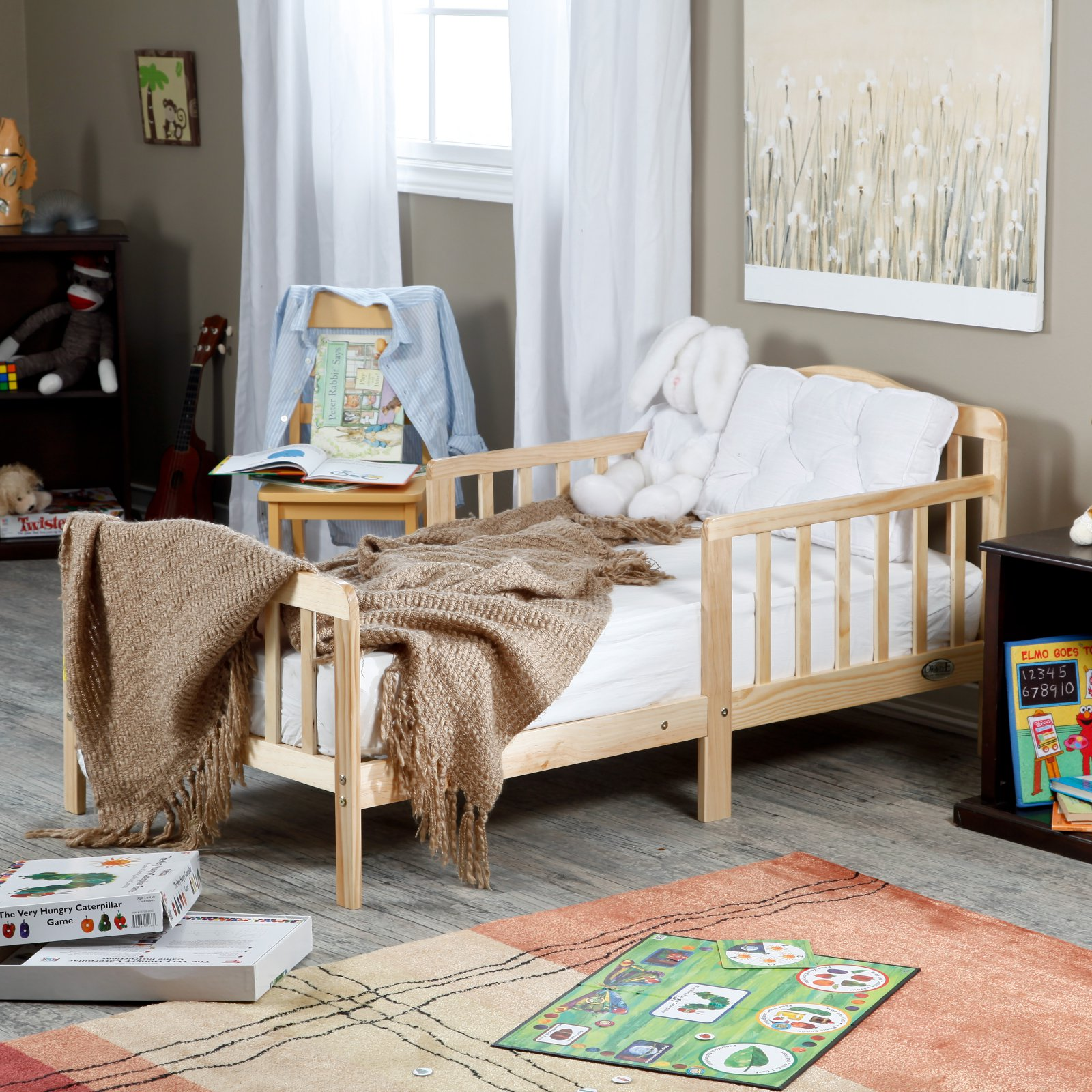 The Orbelle Contemporary Solid Wood Toddler Bed Natural by Orbelle