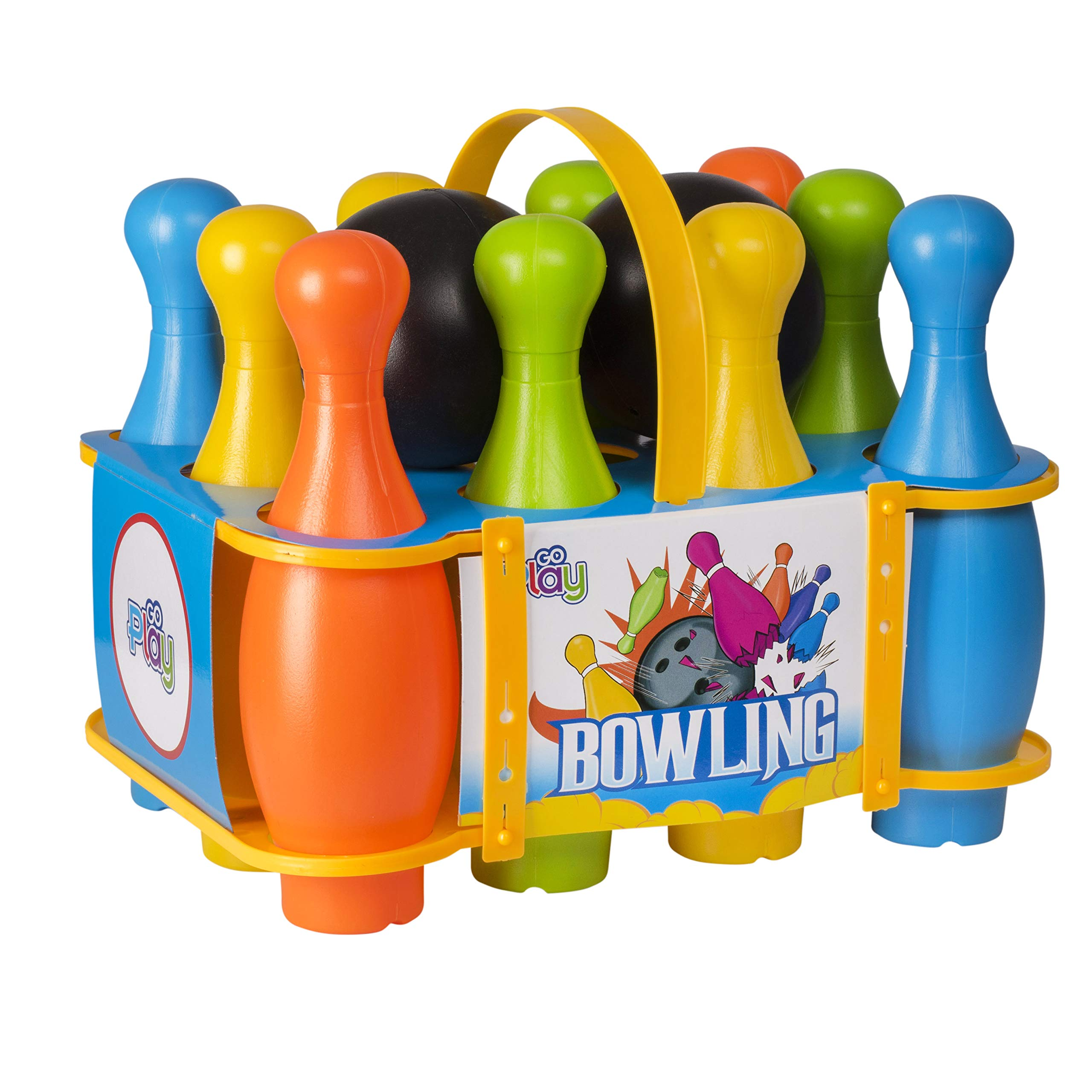 Go Play Soft Bowling Set for Kids - 12-Piece Game with Colorful Numbered Pins Flexible Toy Indoor or Outdoor Walmart.com