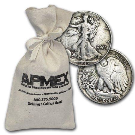 90% Silver Walking Liberty Half-Dollars $500 Face-Value (1987 Walking Liberty Silver Dollar Value Chart)