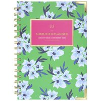 Simplified by Emily Ley 2020 Weekly/Monthly Hardcover Planner, Green Floral