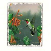 Counter Art CART11000 Hummingbirds Number 2 Single Tumbled Tile Coaster