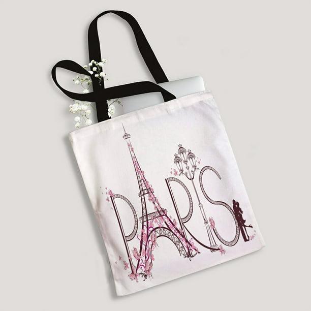Reusable bag; Pink Paris