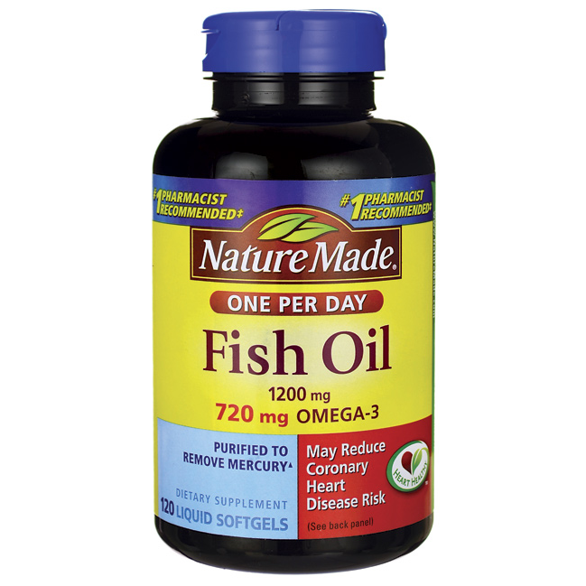 Nature Made Fish Oil 1200mg Softgels - 120ct