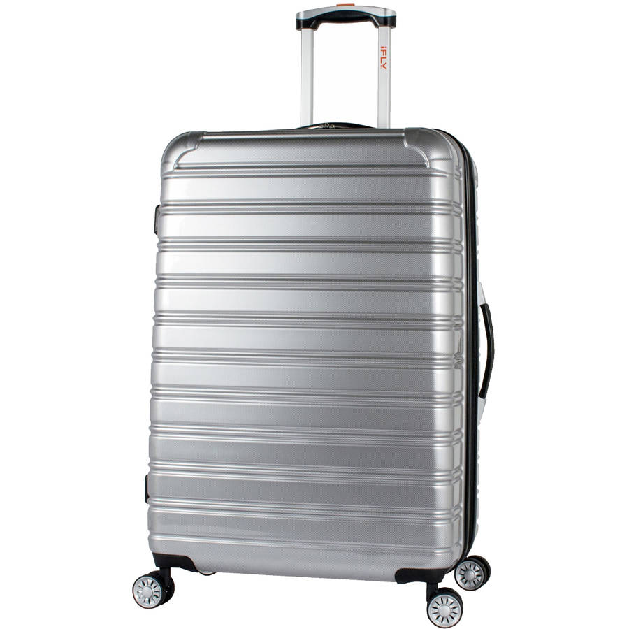 iFLY 28 Hard-Sided Fibertech Luggage, Silver