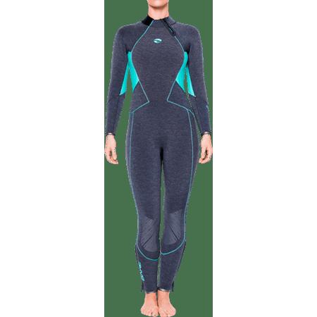 BARE Evoke Womens 7mm Fullsuit (6 Tall, (Wetsuits For Tall Women)