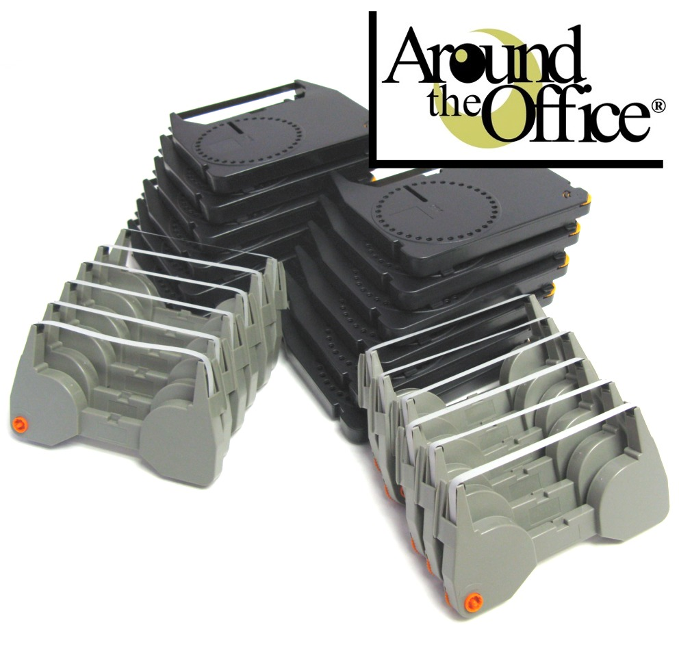 Combo Pack of 12 Typewriter  Ribbons & 12 Correction Lift off Tapes for IBM Lexmark Wheelwriter 30 Typewriter by Around The Office?