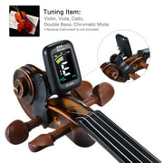 eno ET-05V Professional Clip-on Tuner Automatic Tuning Mode with Colorful LCD Display for Violin Viola Cello Double Bass Chromatic