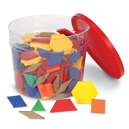 Learning Resources Plastic Pattern Blocks, Set of 250, Ages - Pattern Blocks