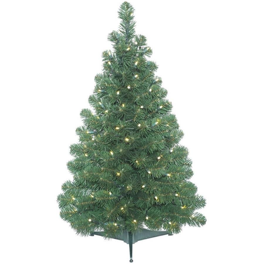 Vickerman 3' Oregon Fir Artificial Christmas Tree with 100 Warm White LED Lights
