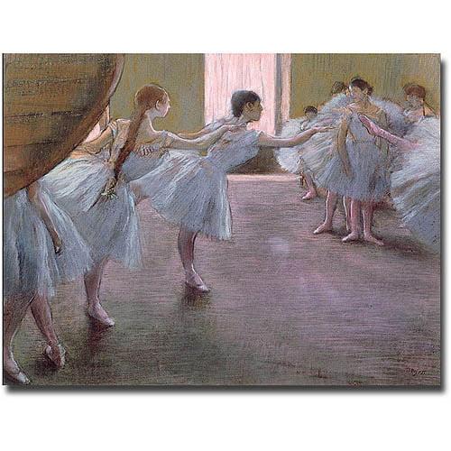 "Trademark Fine Art ""Dancers at Rehearsal 1875-77"" Canvas Wall Art by Edgar Degas"