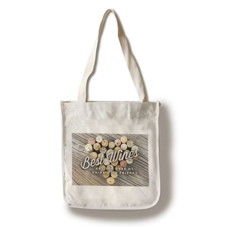 The Best Wines - Cork Heart (Version 2) - Sentiment - Lantern Press Photography (100% Cotton Tote Bag -