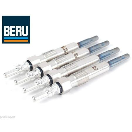 Vw Jetta Tdi Cup - Set of 4 OEM (BERU) Diesel Glow Plugs for VW Beetle Golf Jetta Passat TDI
