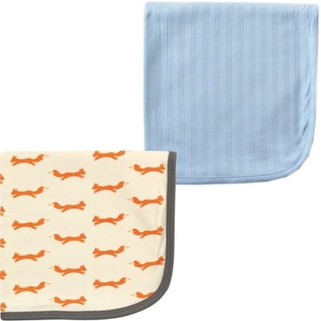 Touched by Nature Baby Boys' Organic Cotton Swaddle Blanket, 2-Pack, Choose Your (Organic Swaddle)