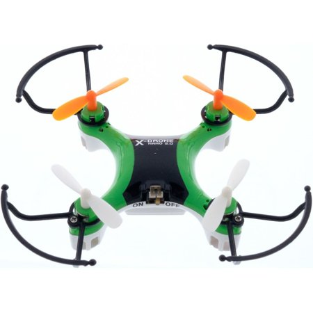 MyePads X-Drone Nano 2.0 Aerial R/C Drone Quadcopter with Protectors - Green