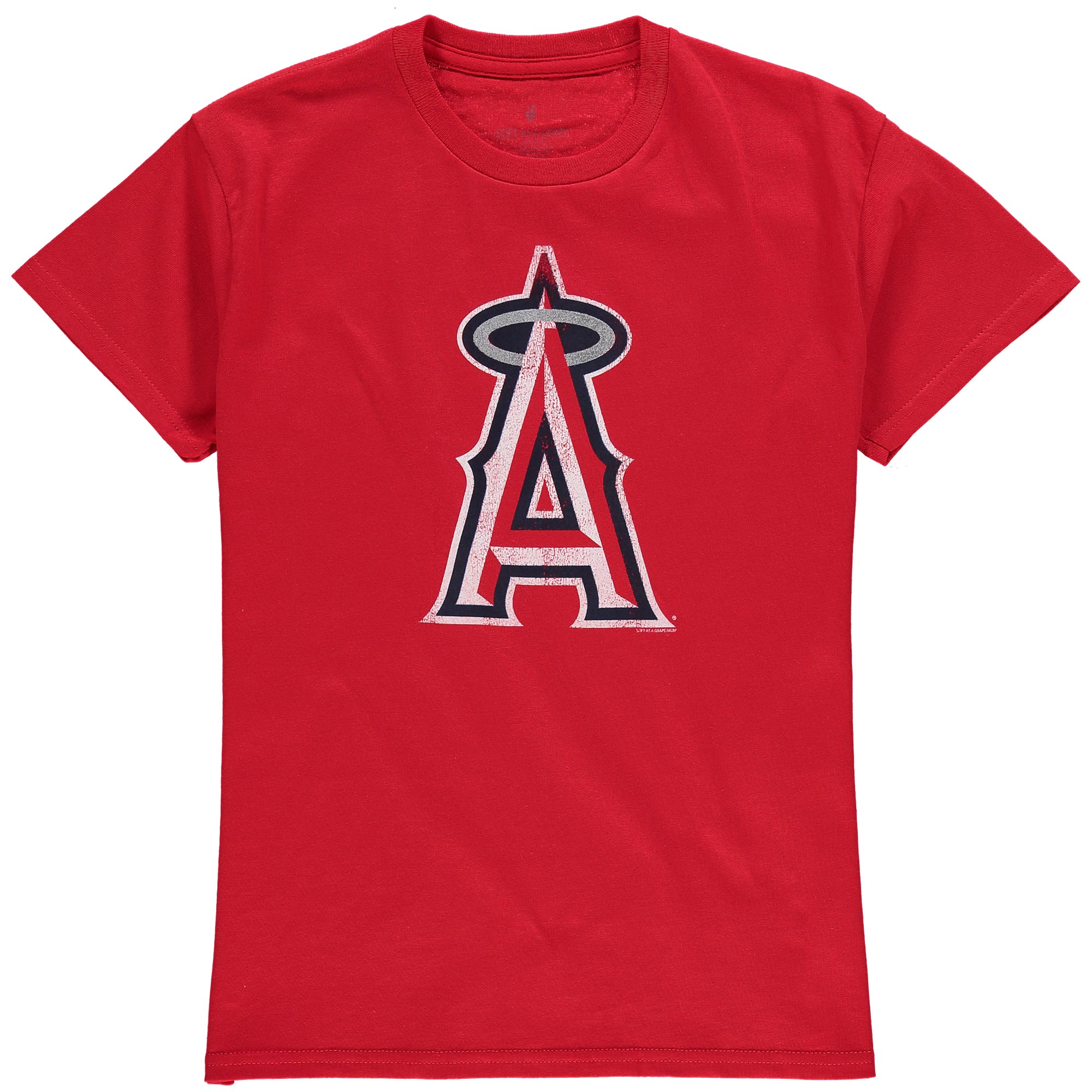 Los Angeles Angels Youth Distressed Logo T-Shirt - Red