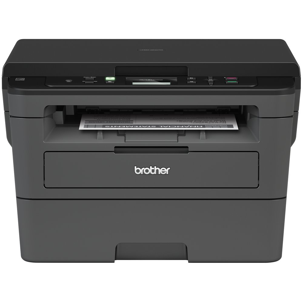 Brother HL-L2390DW Monochrome Laser Printer with Convenient Flatbed Copy & Scan, Duplex Printing and Wireless Connectivity