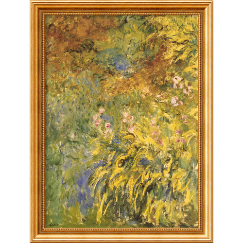 Amanti Art 'Irises' by Claude Monet Framed Painting Print
