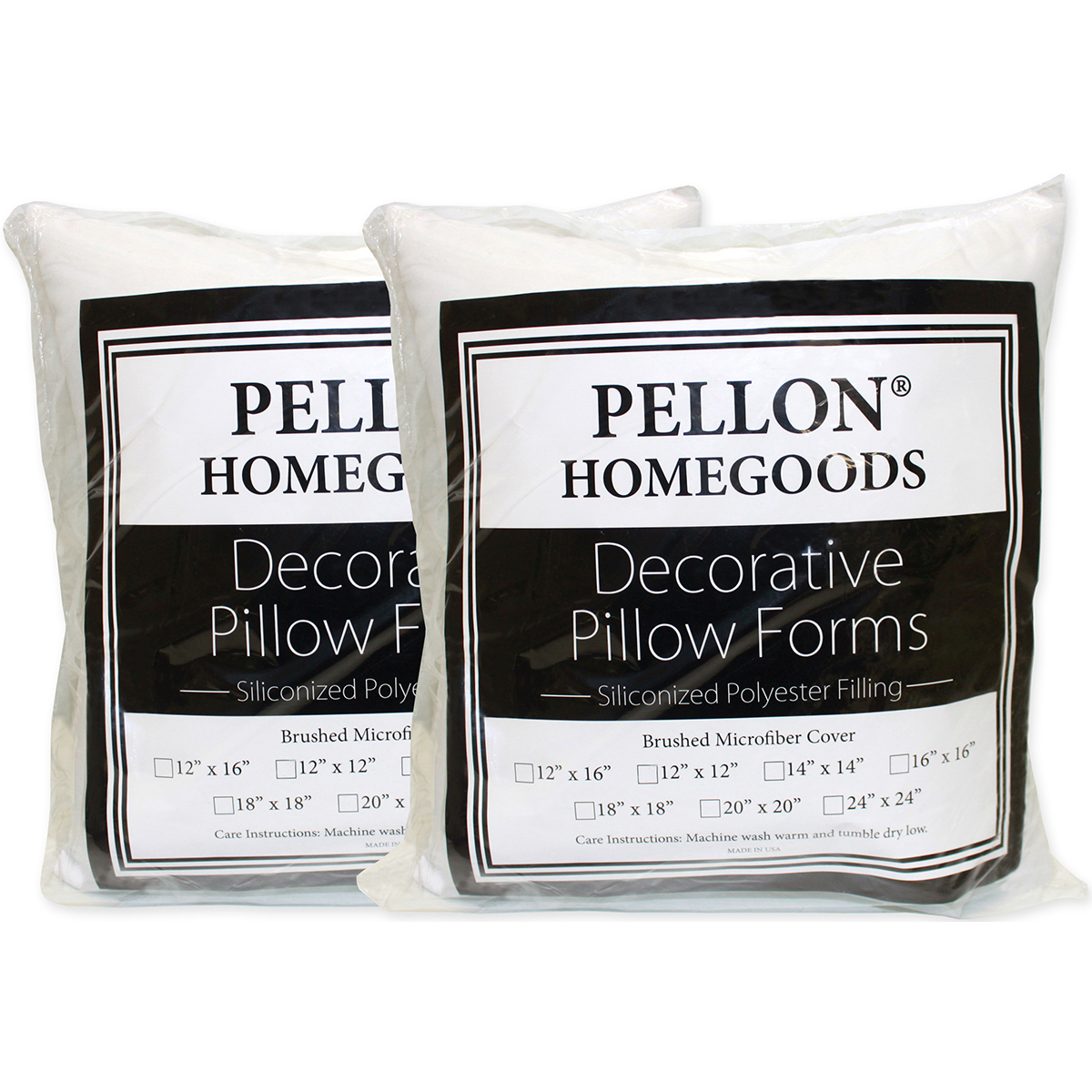 "Pellon Decorative Pillow Insert Twin Pack-18""X18"" FOB: MI"