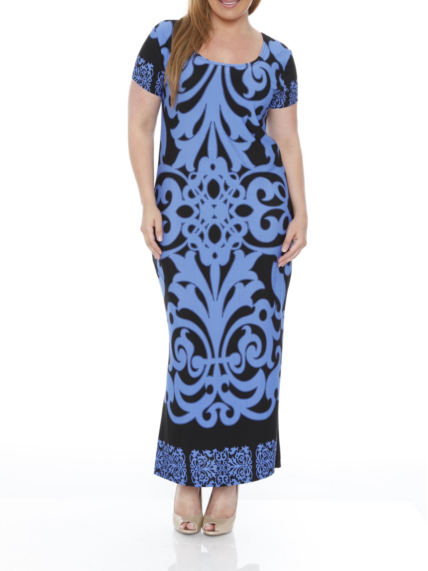 Maxi Dresses Plus Size Walmart