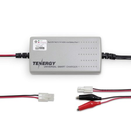 Tenergy TLP-2000 Universal Smart Charger for Li-ion/ LiPo Battery Pack (1-4 Cells) w/ 4 Voltage Selections at 3.7V, 7.4V, 11.1V and 14.8V, Compatible with Tamiya/ Mini Tamiya/ Alligator Clip
