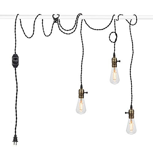 Fabric Cord With Switch Lamp Industrial Edison Vintage Pendant Light