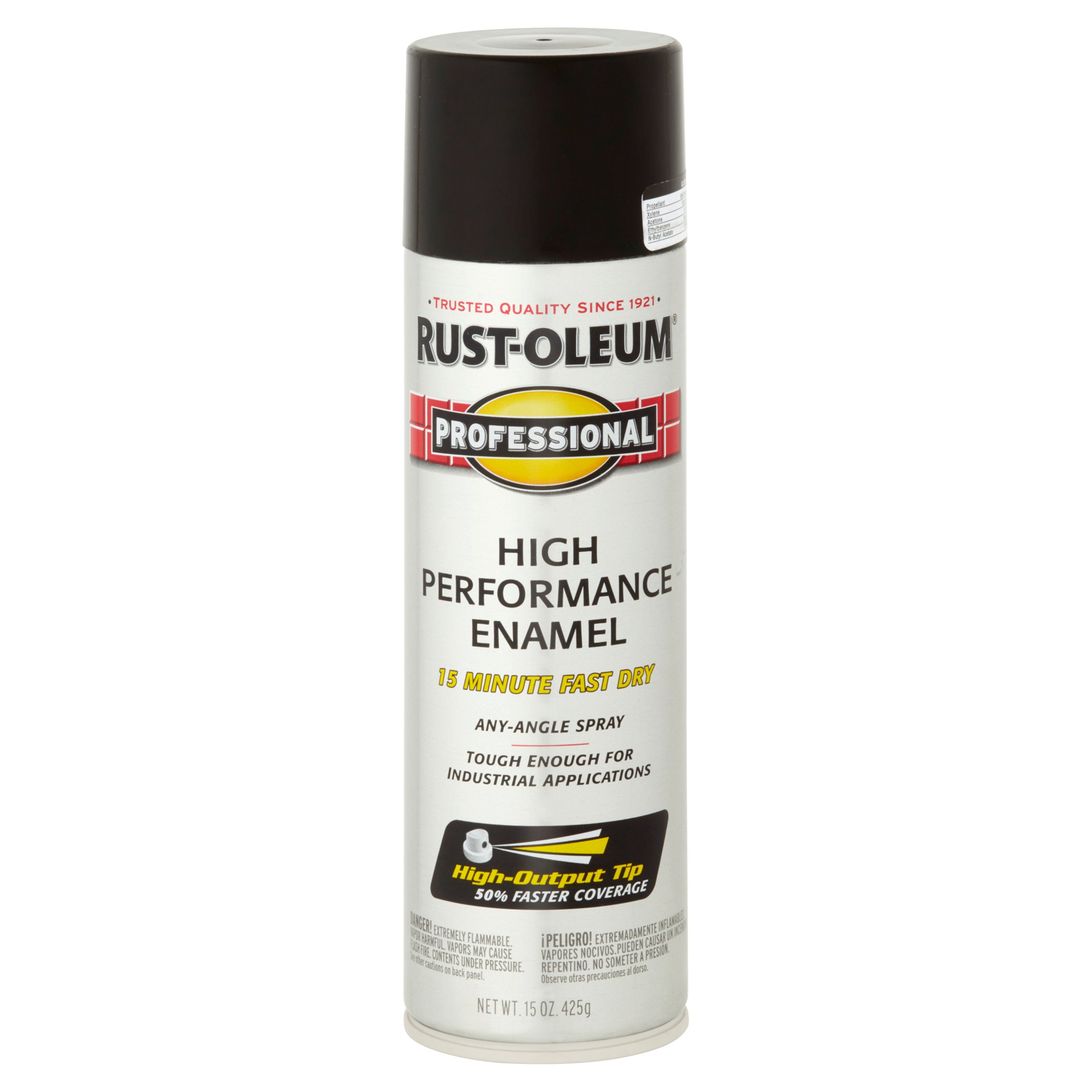 Rust-Oleum Professional Gloss Black High Performance Enamel, 15 oz