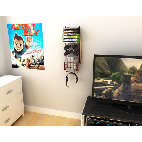 Atlantic - Wall-Mounted Video Game Rack
