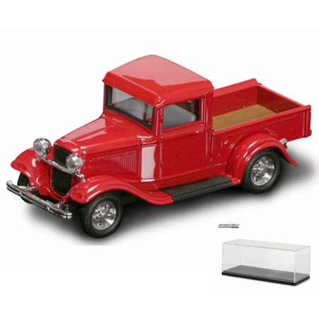 Diecast Car Display Case Package 1934 Ford Pickup Truck Red