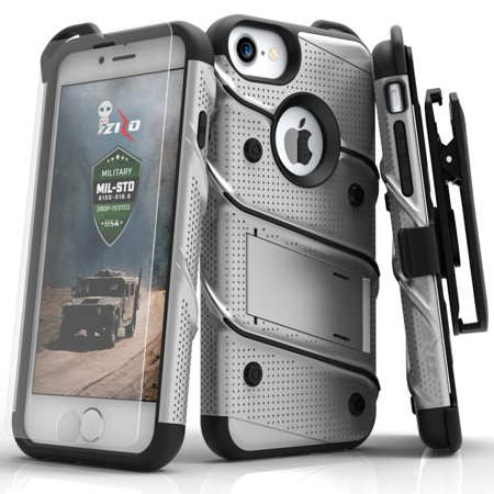separation shoes a45c3 3149d iPhone X / 8 / 8 Plus / 7 / 7 Plus / SE Case Zizo Bolt Tempered Glass  Screen Holster and Kickstand