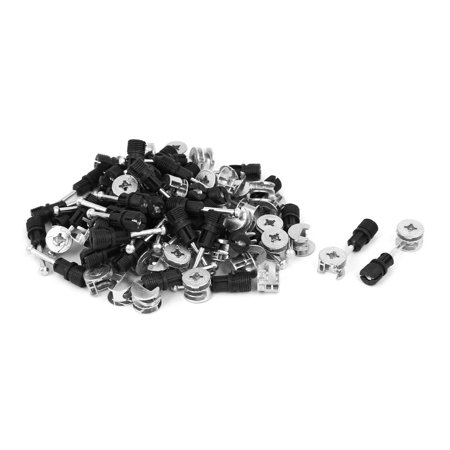Home Office Zinc Alloy Connection Fittings Eccentric Cam Wheel Nut 50 Sets