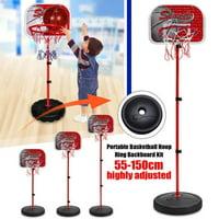 Basketball Stand Basketball Toys Set with Adjustable Height, 21.7''-59.1'', Portable Kids Junior Height-Adjustable Basketball Hoop Stand