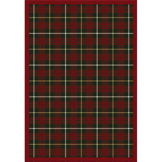 Joy Carpets 1511G-06 Bit O ft.  Scotch Tartan Green 10 ft. 9 inch x 13 ft. 2 inch 100 Pct.  STAINMASTER Nylon Machine Tufted-