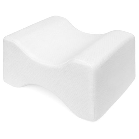 Best Choice Products Orthopedic Memory Foam Knee Pillow with Ergonomic Contour Design for Sciatic, Back, Leg,