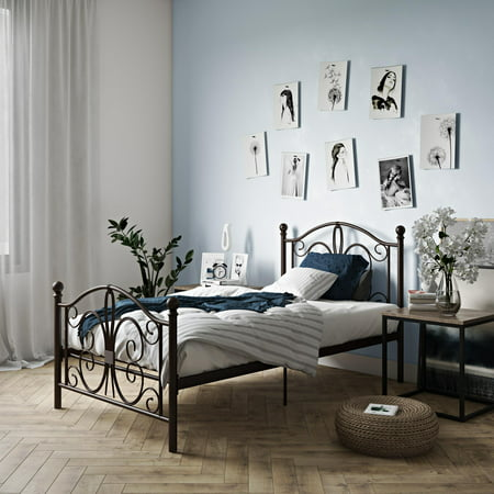DHP Bombay Metal Bed, Multiple Sizes and -