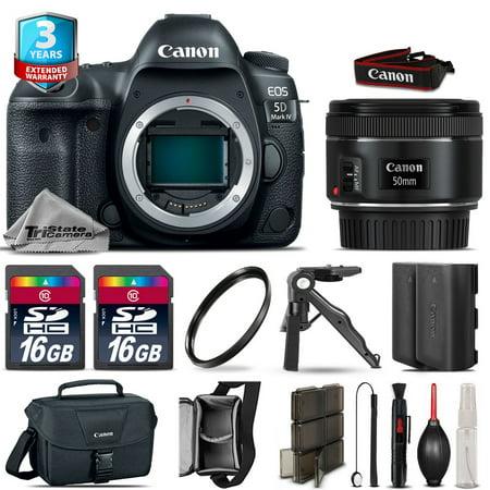 Canon EOS 5D Mark IV DSLR Camera + 50mm + Extra Battery + 32GB + 2yr Warranty