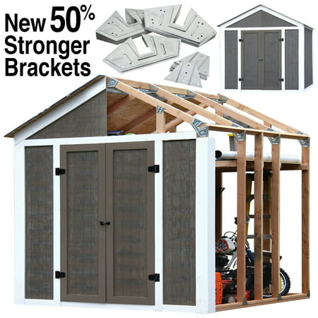 Wooden Shed Kits - Peak Style Shed Kit