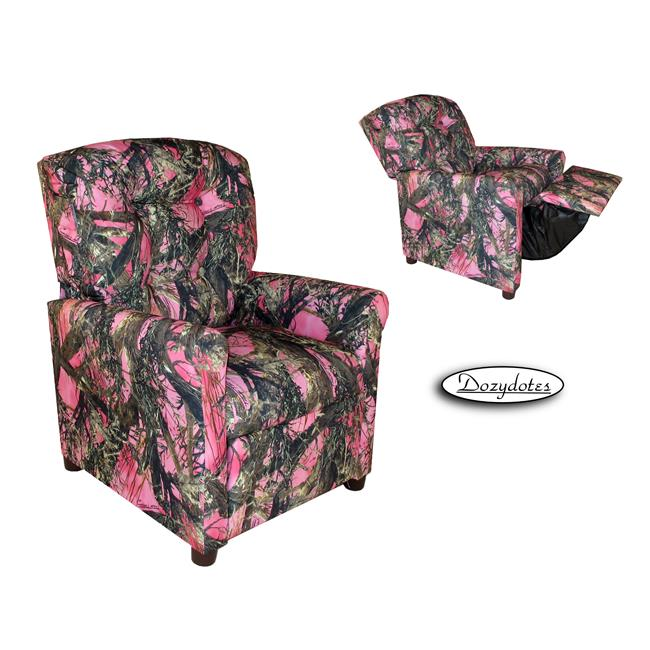 Dozydotes 11822 Child Recliner - 4 Button Camouflage Pink - True Timber