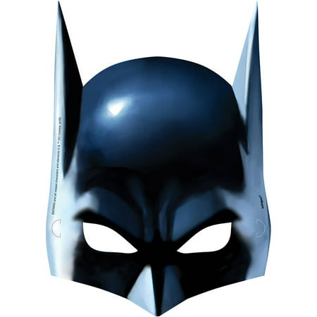 Batman Party Masks, 8ct (Unique Industries Party Supplies)