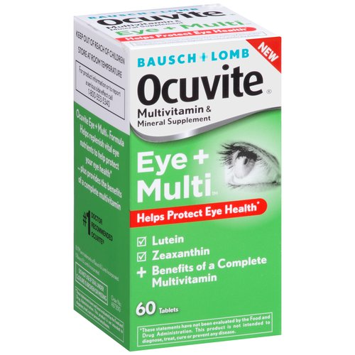 Ocuvite Eye + Multi Multivitamin & Mineral Supplement Tablets, 60 count