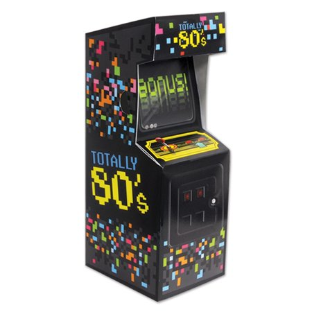 Club Pack of 12 Multi-Colored Totally 80's Arcade Video Game Centerpiece Party Decorations - 80s Decorations Ideas
