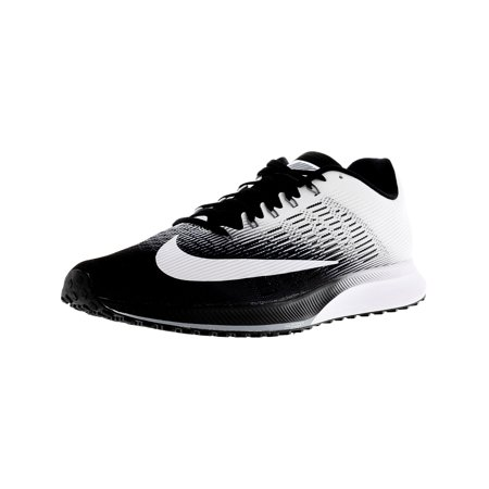 separation shoes 44764 15953 Nike Men s Air Zoom Elite 9 Black   White-Stealth Ankle-High Running Shoe  ...
