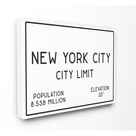 (The Stupell Home Decor Collection NYC City Limit XXL Stretched Canvas Wall Art)