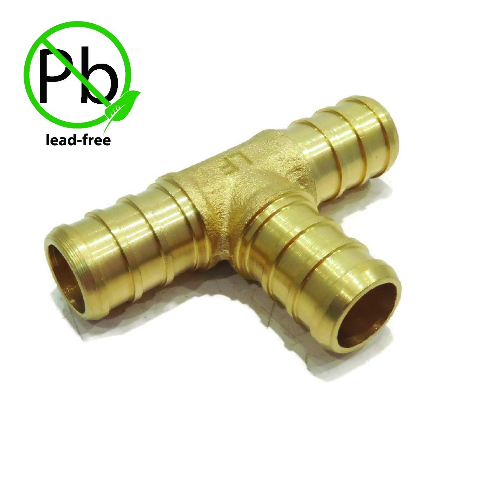 "1/2"" x 1/2"" x 1/2"" PEX BRASS LEAD FREE TEE Fitting replaces Watts LFWP18B-08PB by The ROP Shop"