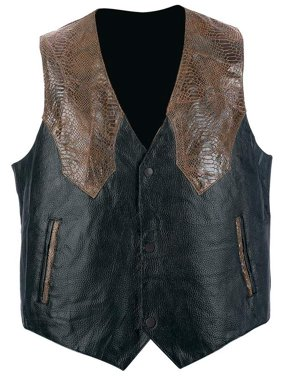 7c7d686c Product Image Giovanni Navarre® Hand-sewn Pebble Grain Genuine Leather  Western-style Vest - Large
