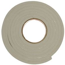 FROST KING WATERPROOF AND AIRTIGHT FOAM WEATHERSTRIP TAPE, 3/16 IN. X 3/4 IN. X 17 FT.
