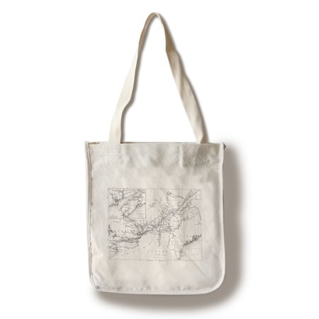 Canada - Detailed Map of Eastern Canada, New Brunswick, and Nova Scotia (100% Cotton Tote Bag - Reusable) ()