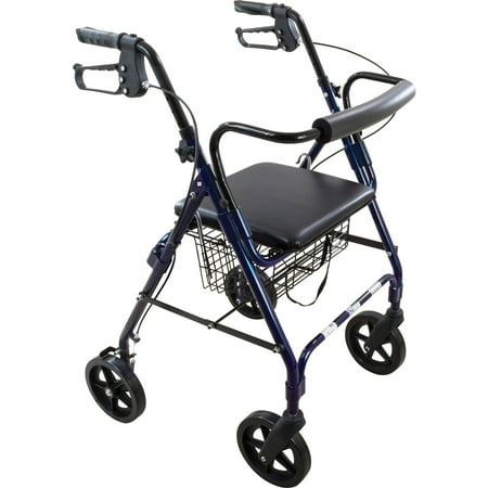 Roscoe Deluxe 8 Quot Wheel Rollator Rolling Walker With
