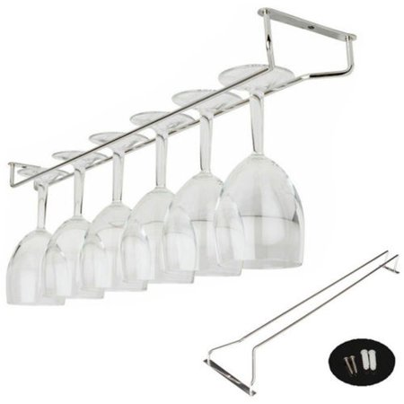 "21""/ 55cm new home wine grape wine rack glass goblet rack hanging rod rack stainless steel frame with screws - image 1 of 5"